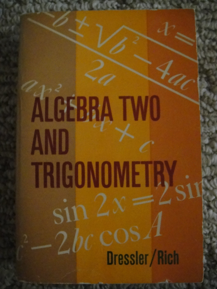 Yes, that is a math book. Math is *awesome*! Especially Trig.